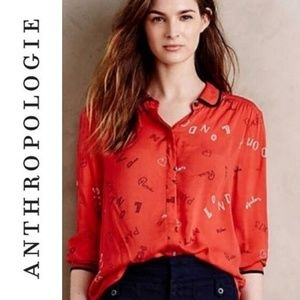ANTHRO 'MAEVE' Button-Down City Blouse